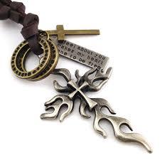 vintage cross necklace images Vintage cross pendant necklace cute small retro punk gothic style jpg
