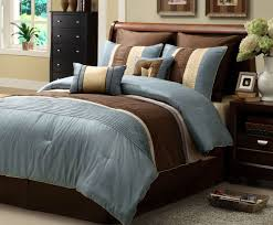 Blue And Brown Bed Sets Blue And Brown Comforter Sets On The Wooden Floor Of Great