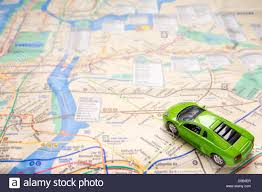 Maps Of New York by Green Toy Car On Map Of New York City Travel Or Traffic Concept