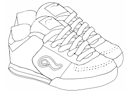 coloring sports shoes daycare free coloring