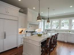 Kitchen With Two Islands Transitional White Kitchens With Island Dzqxh Com