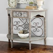distressed white console table console tables entryway tables kirklands