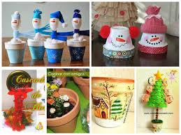 6 manualidades navideñas con macetas
