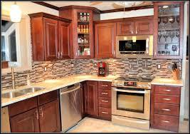 Cherry Kitchen Cabinets Lovely Kitchen Backsplash Cherry Cabinets Black Counter Exitallergy