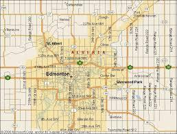 canadian map cities edmonton map jpg