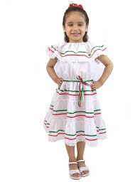 amazon com leos mexican imports girls mexican dress 3 ribbons