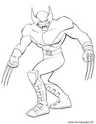 superhero men wolverine coloring pages printable