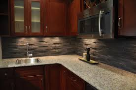 Modern Kitchen Stone Backsplash With Modern Kitchen Cabinets - Kitchen modern backsplash