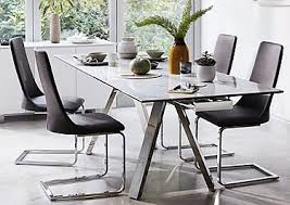 Glass Dining Tables Furniture Village - Dining room table glass