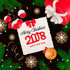 Merry Birthday Card Merry Christmas Greeting Card Vector Free Download