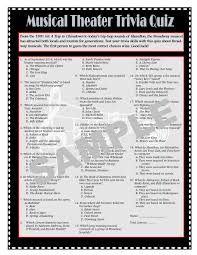 thanksgiving trivia games musical theater printable trivia game broadway trivia