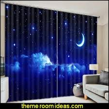 Outer Space Curtains Decorating Theme Bedrooms Maries Manor Celestial Moon Stars