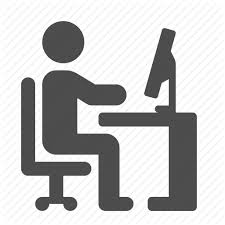 Office Desk Icon Chair Computer Desk Office Pc Working Icon Icon Search