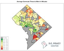 commute map commute times for district residents are linked to income and