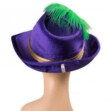 mardi gras hat purple velvet mardi gras pimp hat 27114mgao mardigrasoutlet