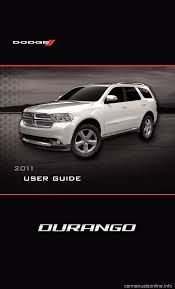 dodge durango 2011 3 g user guide