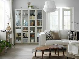living room furniture ideas ikea a small livingroom furnished with a light beige two seat sofa and two beige glass