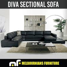 6 seat sectional sofa sofa 6 seater lounge suite black leather diva pre sale eta