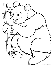 free printable animal s panda eating bamboo79da coloring pages