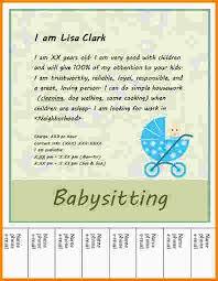examples of babysitting flyers edouardpagnier co