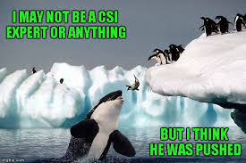 Funny Penguin Memes - if you live life on the edge be careful who you call friends