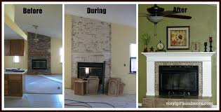 articles with stone fireplace makeover ideas tag eclectic