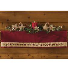 primitive home decors christmas star mantle scarf christmas stars mantle and primitives