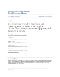 use of personal protective equipment and operating room behaviors