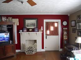 Red Accent Wall by Living Rooms Painted Red Home Decoration Ideas