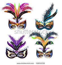 carnaval masks colorful masquerade carnival masks vector set free