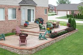 Backyard Stamped Concrete Ideas Concrete Backyard Design Prodigious Back Yard Patio Ideas 21