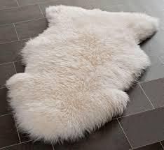 genuine large sheepskin rug with extra thick wool superlarge