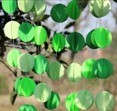 3d paper garland shades of green st patrick u0027s day decoration