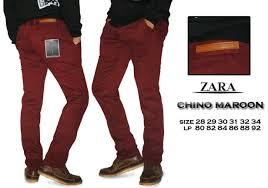 Celana Zara jual celana chino zara maroon cheap and cool