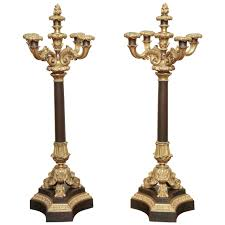 pair of louis philippe ormolu and bronze candelabra french circa