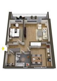 One Bedroom Apartment Layout 3 Distinctly Themed Apartments Under 800 Square Feet 75 Square
