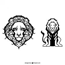 imagenes de leones salvajes gratis dibujos simples de leones descargar vectores gratis