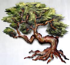 20 inspirations metal oak tree wall art wall art ideas