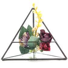 15cm triangle greenhouse glass terrarium diy micro landscape