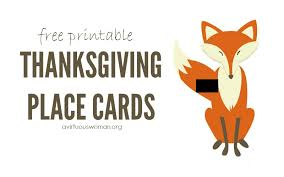 thanksgiving place cards a virtuous