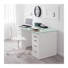 white table with drawers glasholm alex table glass honeycomb pattern white ikea
