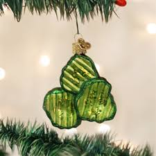 pickle ornament yourchristmasstore pickle chips world christmas glass