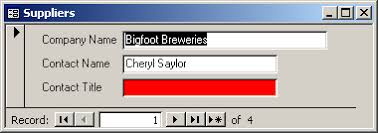 ms access 2003 change the background color of a text box based on