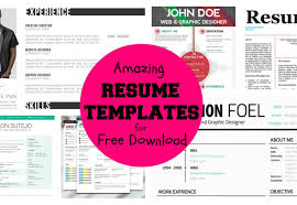 resume awesome and beautiful resume templates word 1 ten great