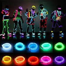 led battery operated strip lights tsleen 3m 5m 3v flexible neon light glow el wire tape cable