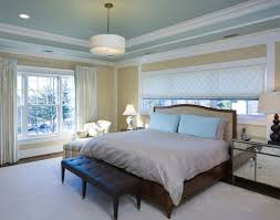 Creating The Illusion Of Space With Ceiling Color - Bedroom ceiling paint ideas