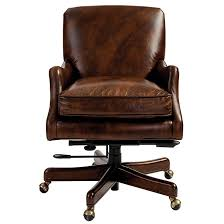 Small Leather Desk Chair Laurel Leather Desk Chair Pottery Barn Regarding Design 6