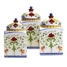 Ceramic Canisters For The Kitchen The Functional Kitchen Canister Sets Kitchen Ideas