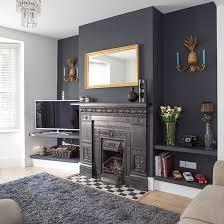 livingroom decor grey feature wall black dramatic living room living room