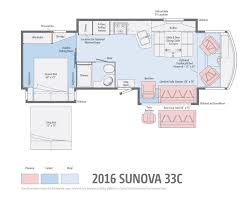 sunova by winnebago a fun loving class a coach floor plans